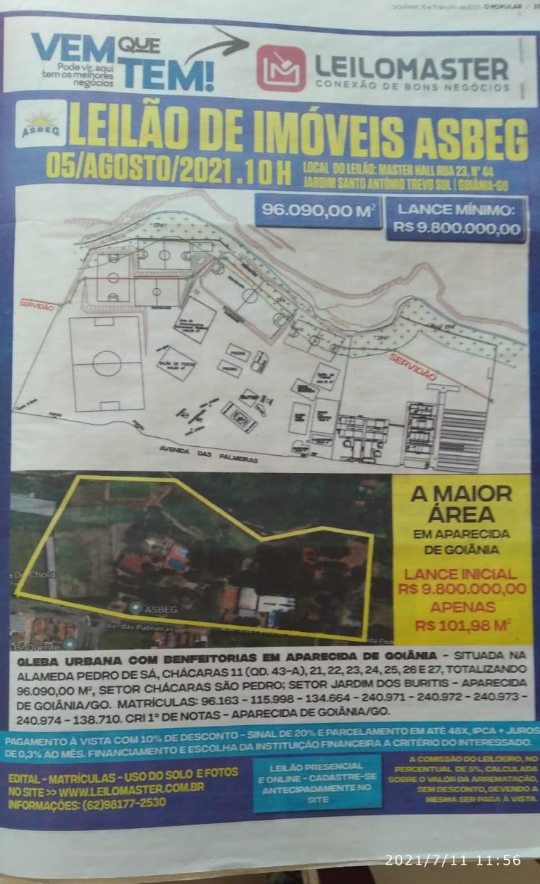 LEILÃO ASBEG DIA 05/08/2021